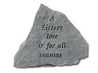 Garden Stone - A sisters love is for all seasons