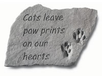 Garden Stone - Cats leave paw prints on....