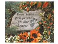Garden Stone - Dogs leave paw prints on our hearts