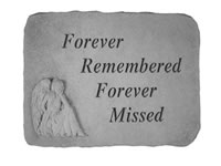 Garden Stone - Forever Remembered Forever Missed