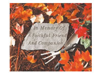Garden Stone - In memory of A faithful friend and companion