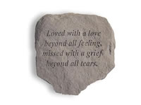 Garden Stone - Loved with a love beyond all...