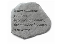 Garden Stone - When someone you love becomes...