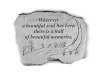 Garden Stone - Wherever a beautiful soul has been...